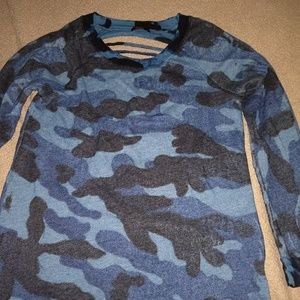 Blue camo sweatshirt by Party